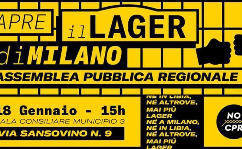 APRE IL LAGER di Milano! Assemblea Pubblica Regionale – 18 gennaio