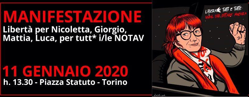 Manifestazione NoTav – con Nicoletta per liberare tutti e tutte
