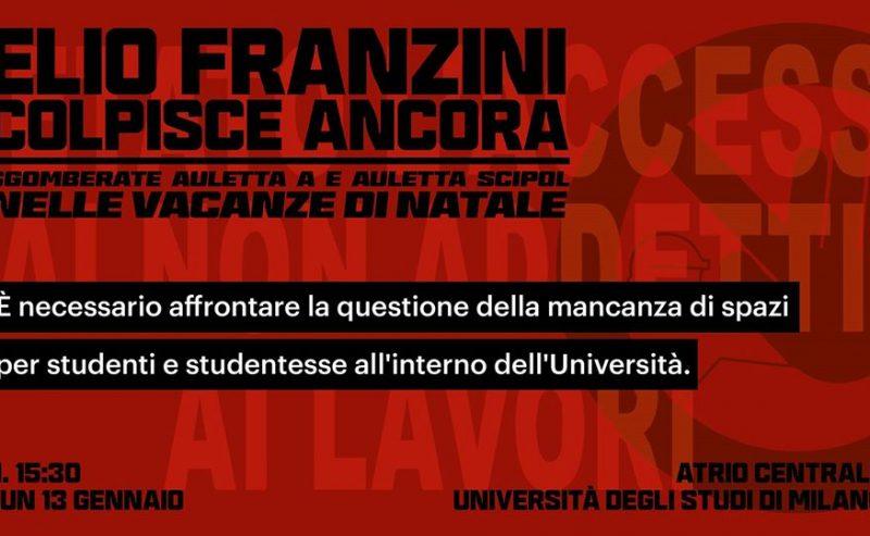 Franzini colpisce ancora | Assemblea Studentesca – 13 gennaio @ Statale