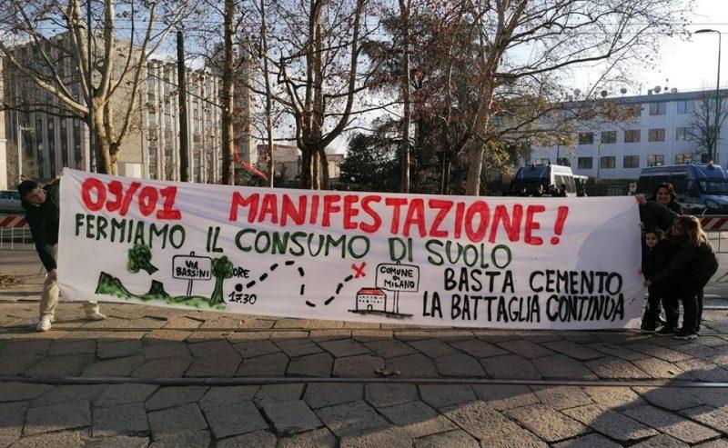 Corteo per il Parco Bassini: basta consumo di suolo! – 9 gennaio @ largo Volontari del sangue