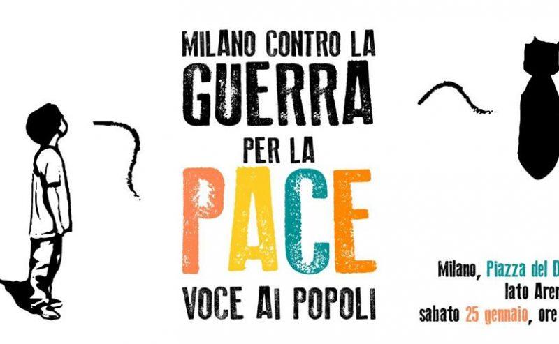 Milano contro la guerra – 25 gennaio @ piazza Duomo
