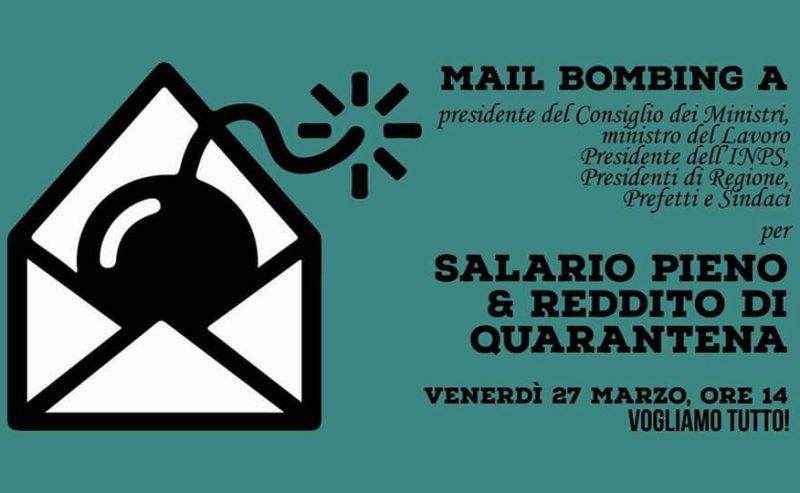 Mail bombing per il Reddito di Quarantena!
