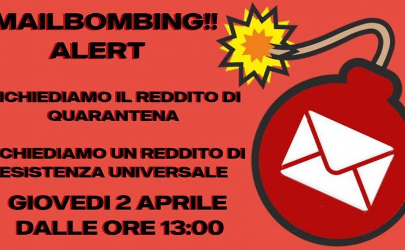Mail bombing alert #redditodiquarantena!