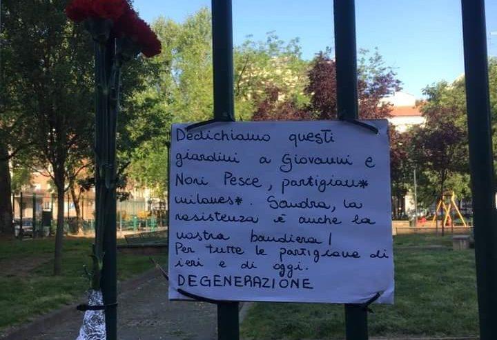 25 aprile – Un parco dedicato a Onorina Brambilla, nome di battaglia Sandra