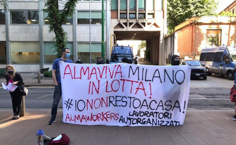 Dopo il presidio di oggi i lavoratori Almaviva saranno ricevuti dalla Commissione attività produttive