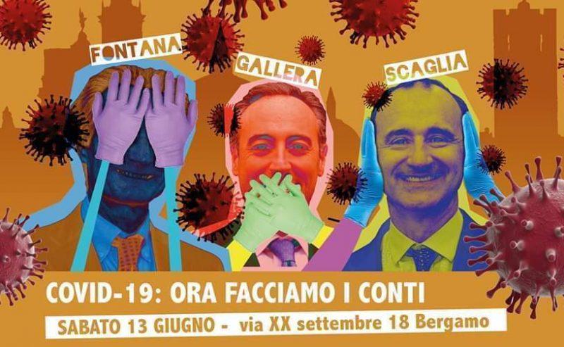 Covid 19 – Ora Facciamo i Conti: Presidio a Bergamo