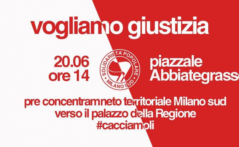 #Cacciamoli! pre-concentramento Milano sud verso il palazzo della Regione
