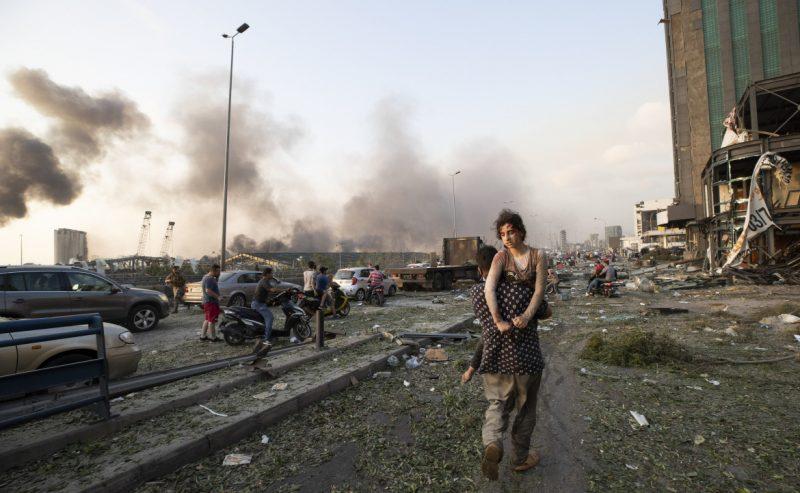 Esplosione al porto, Beirut in macerie