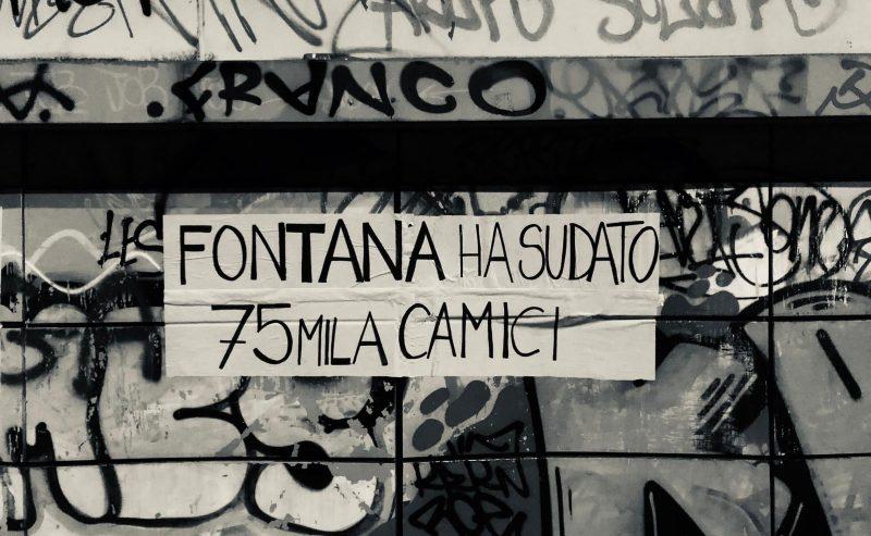 Anche i muri di Milano urlano contro la malagestione dell'epidemia
