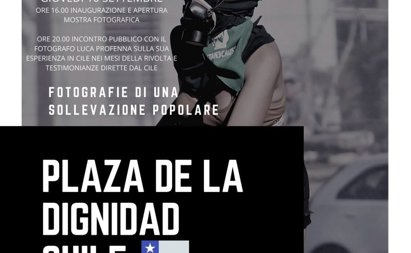 """Milano – 10 Settembre – Mostra Fotografica """"Plaza de la dignidad"""""""