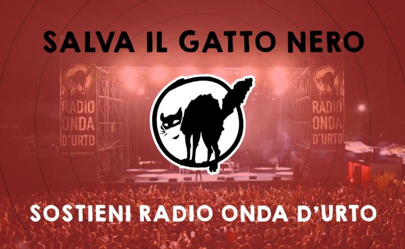 Salva il gatto nero – Sostieni Radio Onda d'Urto!