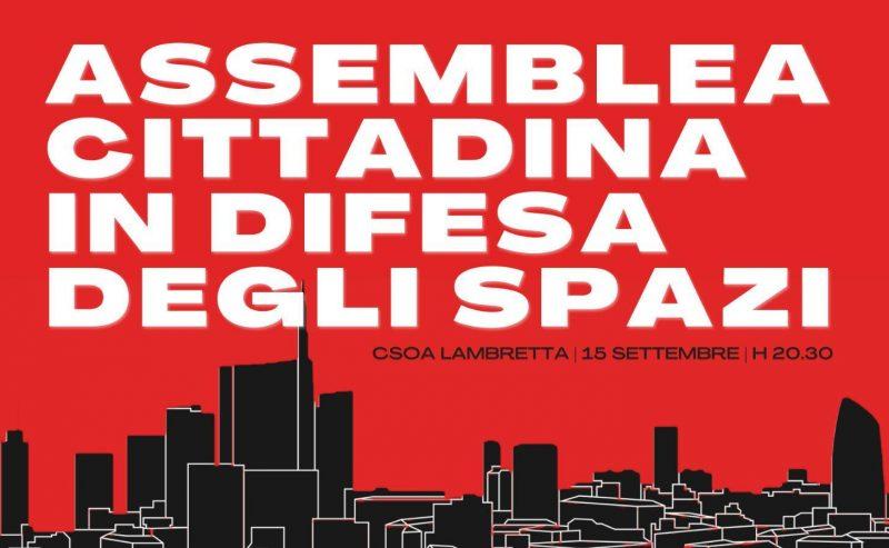 Assemblea cittadina in difesa degli spazi