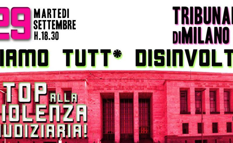 Siamo tutt* disinvolte! Presidio al Tribunale di Milano – 29 settembre