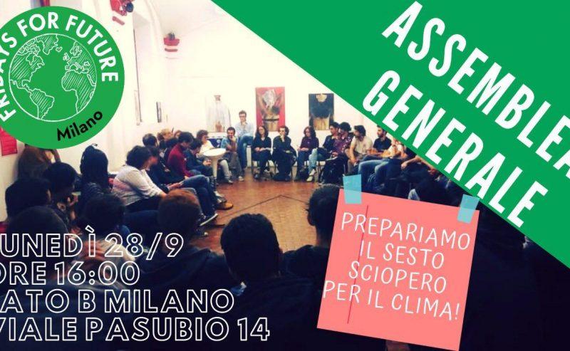 Assemblea Pubblica FFF Milano – 28 settembre
