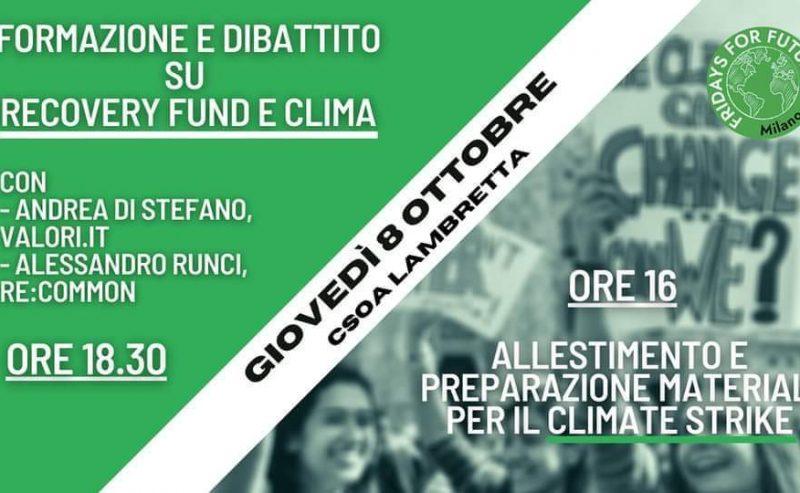 Preparazione materiali e Formazione per il Sesto Climate Strike! – 8 ottobre @ Lambretta