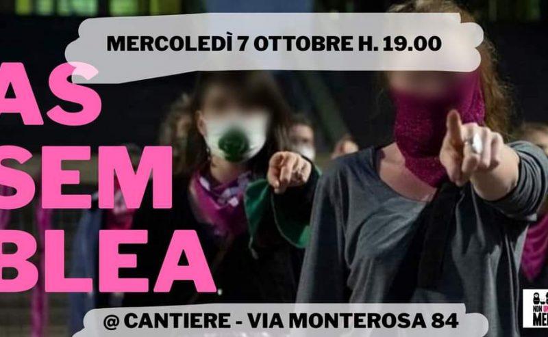 Assemblea Di Non Una Di Meno Milano – 7 ottobre @ Cantiere