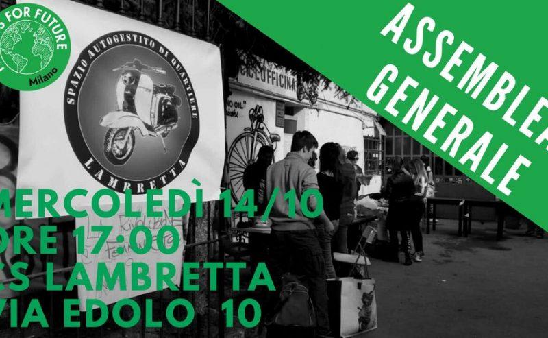 Assemblea pubblica dopo il Climate Strike – 14 ottobre @ Lambretta
