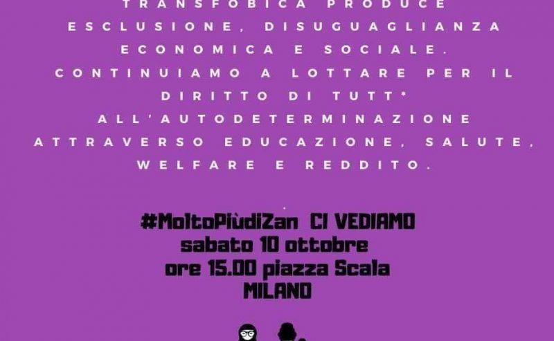 #MoltoPiùDiZan – Presidio in piazza della Scala (10 ottobre)