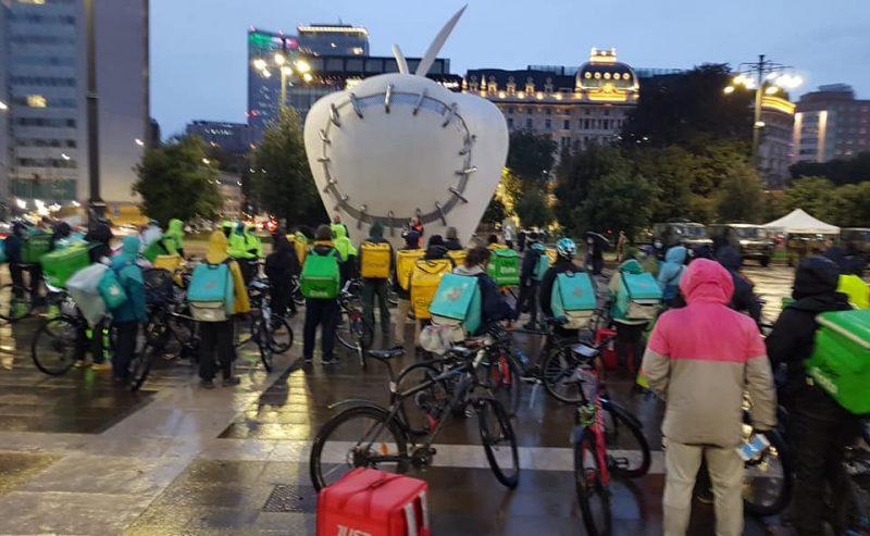 I riders si mobilitano contro l'accordo bidone tra Assodelivery e UGL