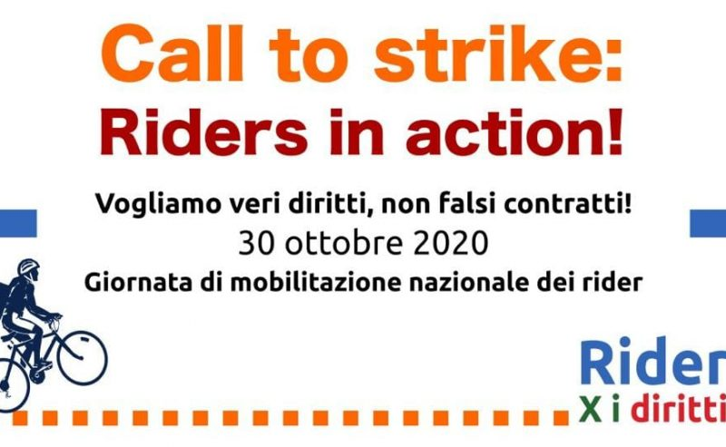 30 ottobre – Call to strike: riders in action!