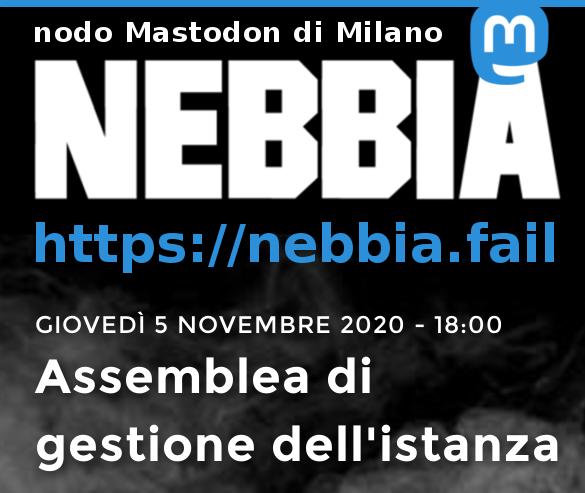 Nebbia, il Mastodon di Milano – Assemblea di gestione dell'istanza