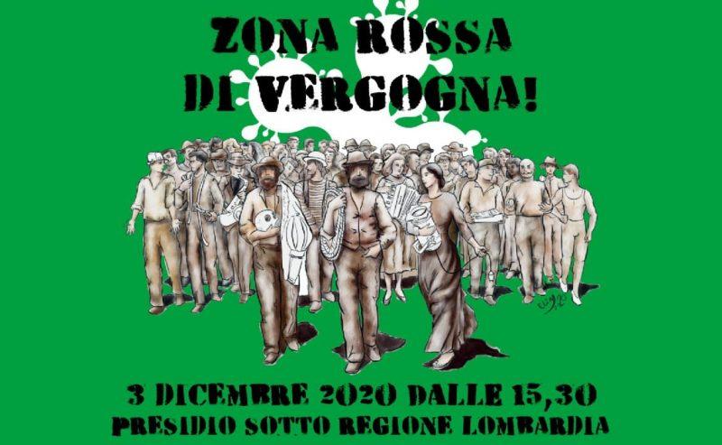 Zona Rossa, di vergogna! Coordinamento Spettacolo Lombardia in Regione