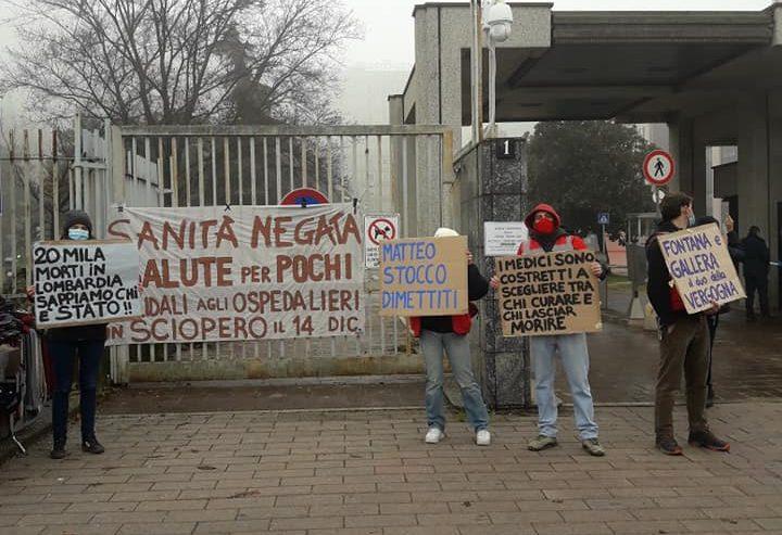 Lavoratori in stato d'agitazione – Dopo il San Paolo, blitz all'ospedale San Carlo