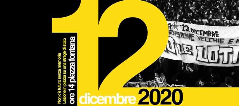 """Piazza Fontana """"Non c'è futuro senza memoria"""": lezione in piazza su una strage di Stato"""