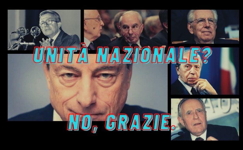 Governo Draghi? No grazie, ci è bastato Monti
