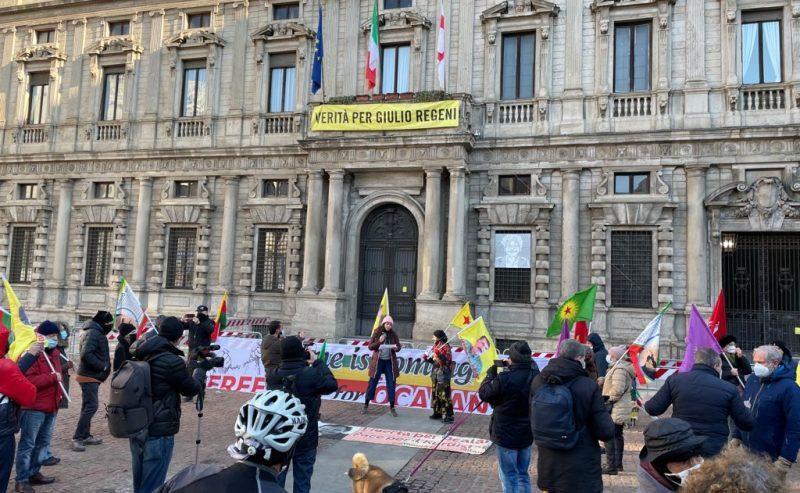 Presidio per la libertà di Ocalan e dei curdi