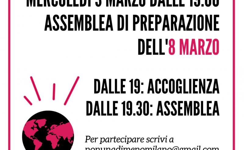 3 marzo ultima assemblea di avvicinamento a Lotto Marzo di Milano