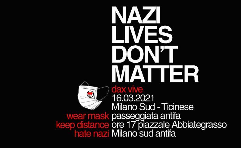 Dax vive! Passeggiata antifascista a Milano Sud