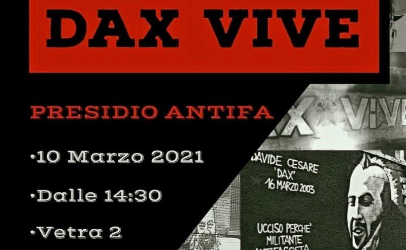 Dax vive! – Presidio antifascista, 10 marzo @ parco Vetra