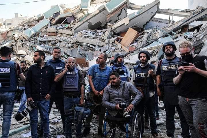 Palestina – Basta bombe sulla libertà di stampa! Basta bombe sui civili!