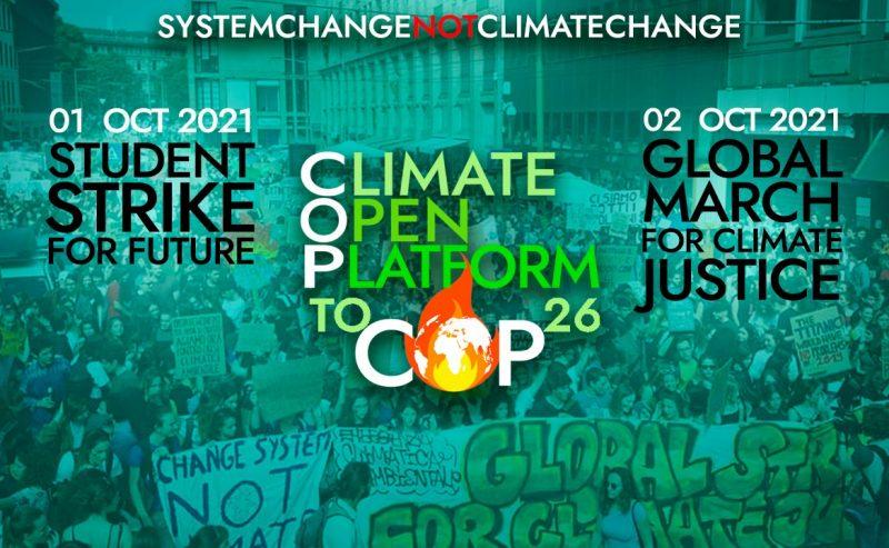 Climate Open Platform, appello alla mobilitazione verso la Youth COP e la Pre-COP di Milano