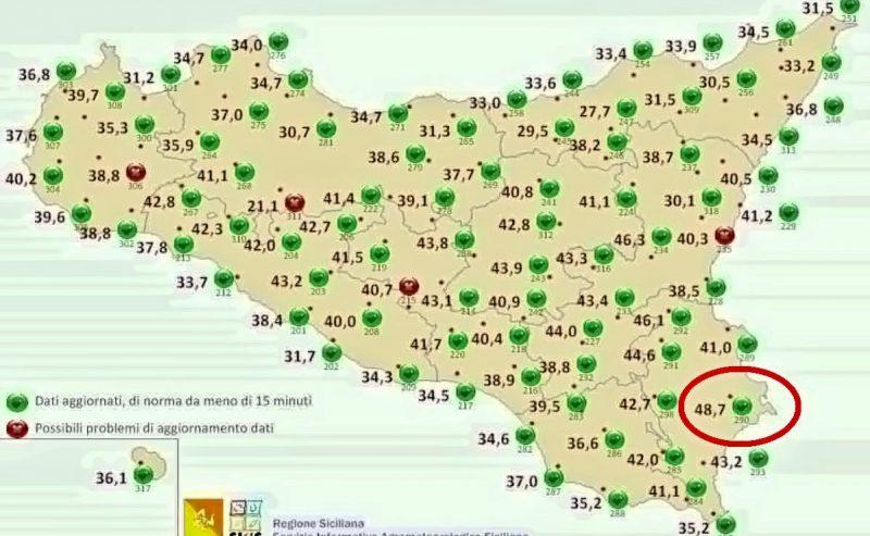 48,8° – A Siracusa la temperatura più alta della storia d'Europa