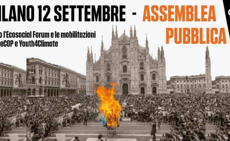 Assemblea di confronto verso le mobilitazioni e l'Eco Social Forum per PreCop e Youth4Climate