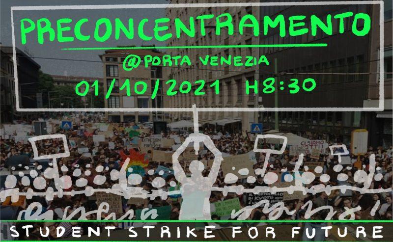 Student strike for future – Preconcentramento in Porta Venezia – 1 ottobre