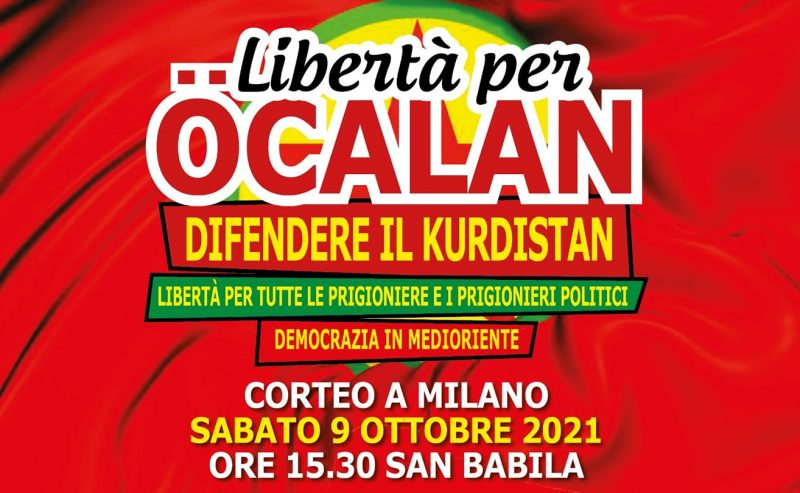 Libertà per Ocalan: corteo a Milano