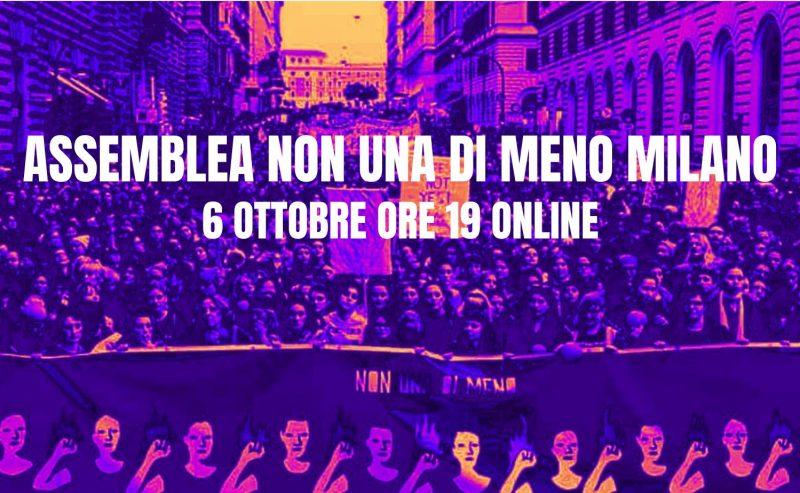 Assemblea Non Una Di Meno Milano – 6 ottobre