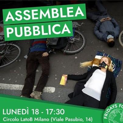 Assemblea pubblica di Fridays For Future – 18 ottobre