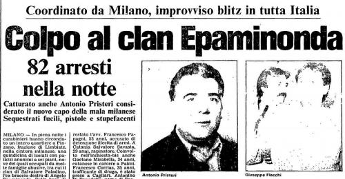 Arresti Epaminonda giugno 1985