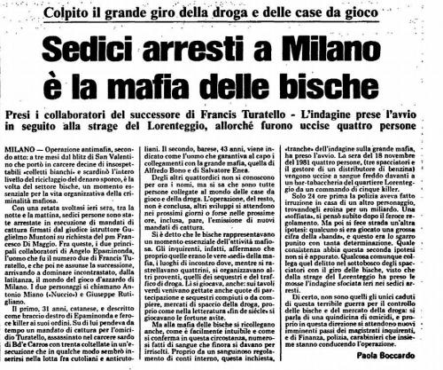 Arresti Turatello maggio 1983