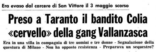Arresto Colia 14 giugno 1977