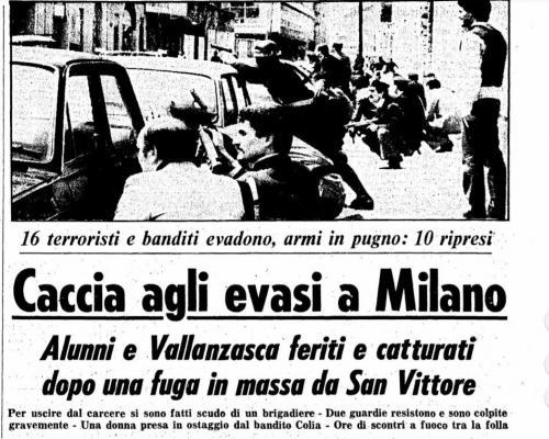 Evasione San Vittore 28 aprile 1980