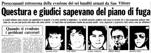 Evasione San Vittore 3 maggio 1977 (2)