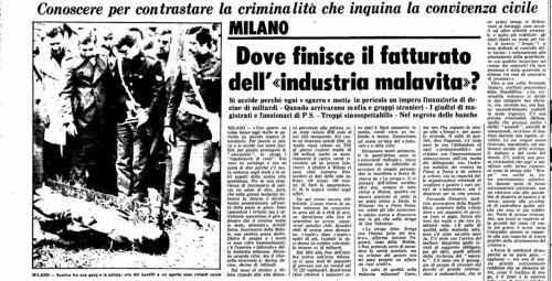 Inchiesta malavita Milano 1979