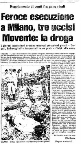 Omicidi via Selvanesco 30 giugno 1984