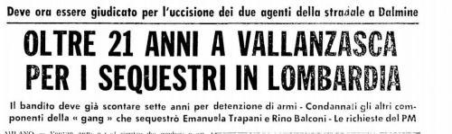 Processo sequestri Vallanzasca marzo 1977