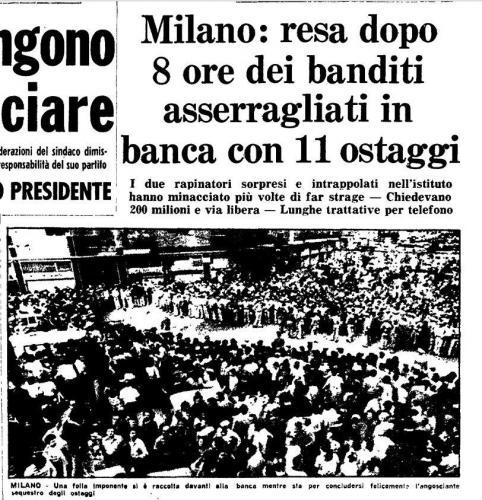 Rapina con ostaggi 8 settembre 1975